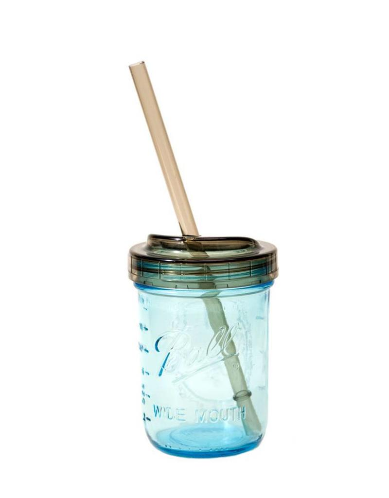 Ball BALL® 1-PIECE, wide mouth sip & straw lids, 2 count