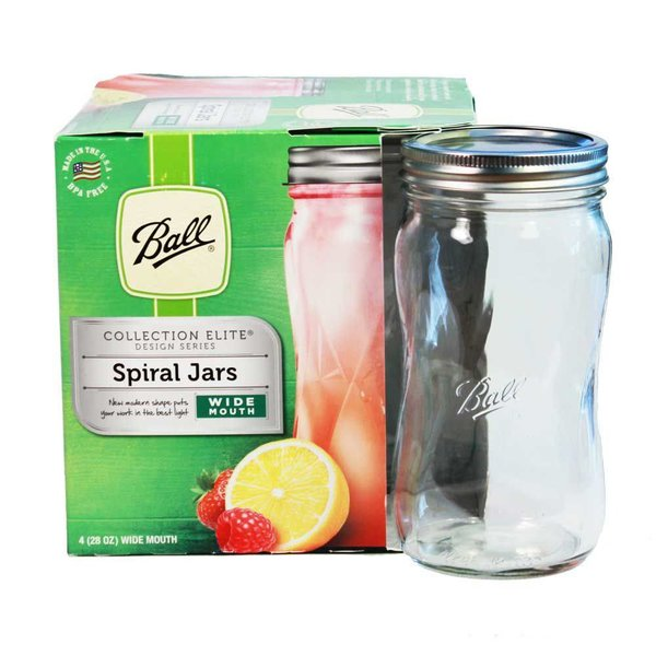 BALL® Elite wide mouth pint 28 OZ. SPIRAL