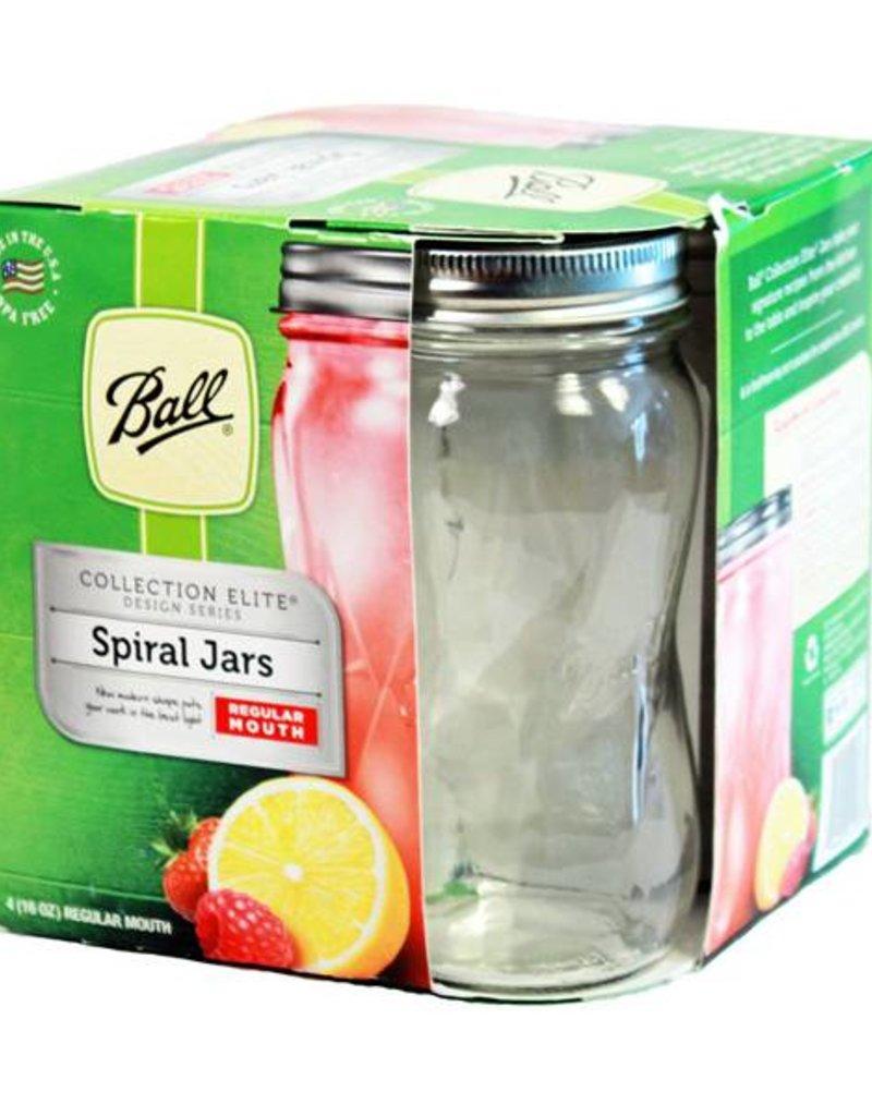 Ball BALL® Elite regular mouth pint 16 OZ. SPIRAL