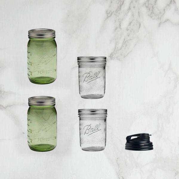 Mason jar Gift Set 5 pieces Green