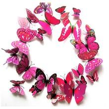 3D vlinders roze meerkleurig
