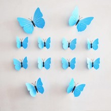 3D vlinders licht blauw