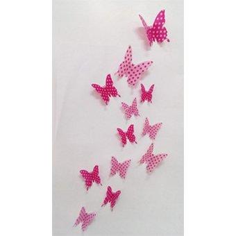 3D vlinders met stippen