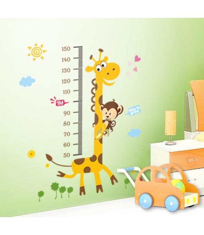 Groeimeter Giraffe met aapje