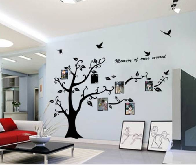 muursticker boom met foto's - woonkamer slaapkamer - muurstickers&zo, Deco ideeën
