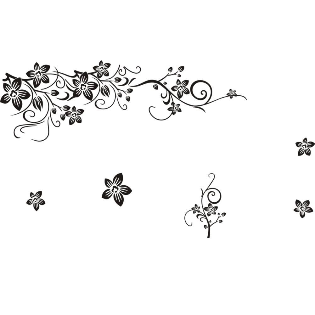 Muursticker sierlijke takken met bloemen - Muurstickers&zo