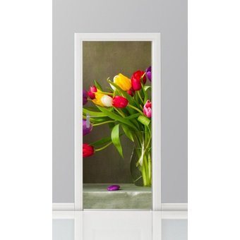 Deursticker bloemen 14