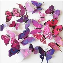 3D vlinders roze-paars meerkleurig