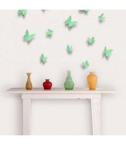 3D vlinders mint groen