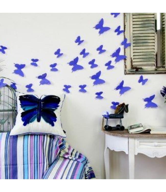 3D vlinders paars