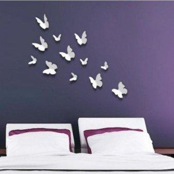 3D vlinders wit
