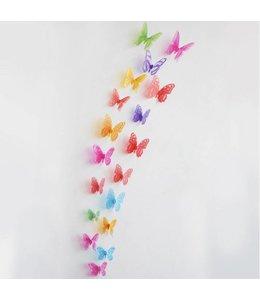 3D vlinders allerlei kleuren