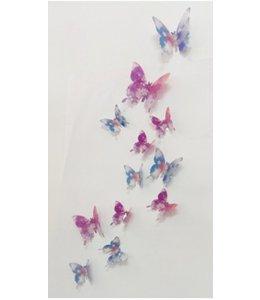 3D vlinders met bloemetjes