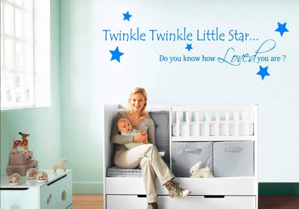 Muursticker twinkle twinkle little star muurstickers babykamer