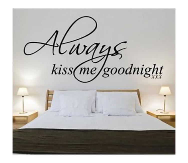 Muursticker Always Kiss Me Goodnight Muurstickers Slaapkamer