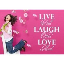 Muursticker Live well laugh often love much
