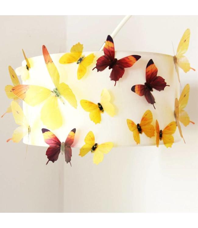 3D vlinders serie geel