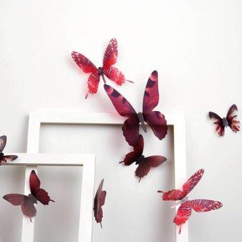 3D vlinders serie rood