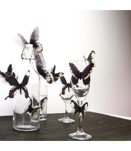 3D vlinders serie zwart