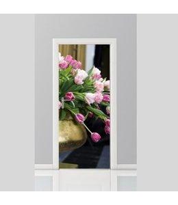 Deursticker bloemen 4
