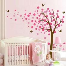 Muursticker bloesemboom XL fuchsia - roze