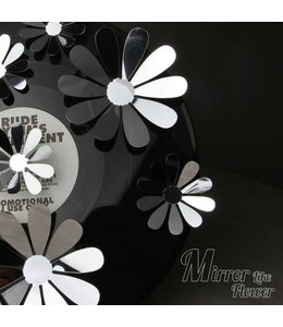 3D bloemen spiegel effect zilver