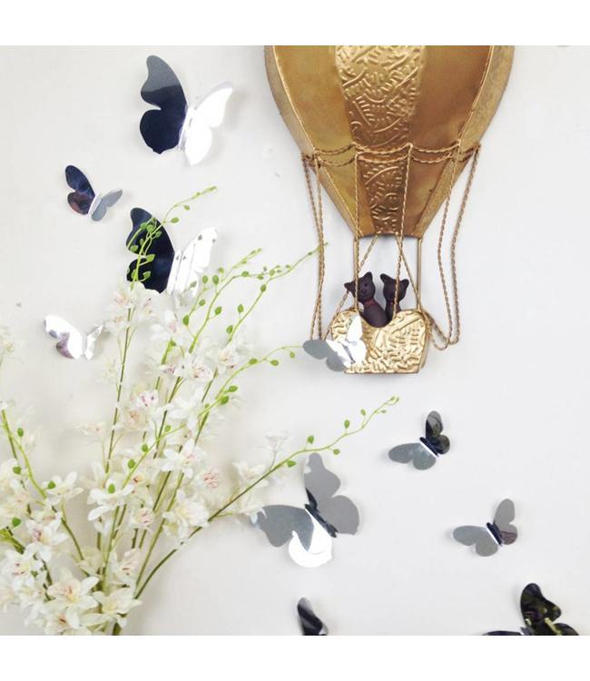 3D vlinders spiegel effect