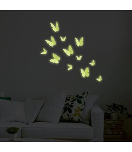 3D vlinders glow in the dark