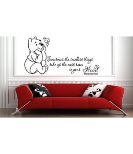 Muursticker winnie the pooh - sometimes the smallest things...