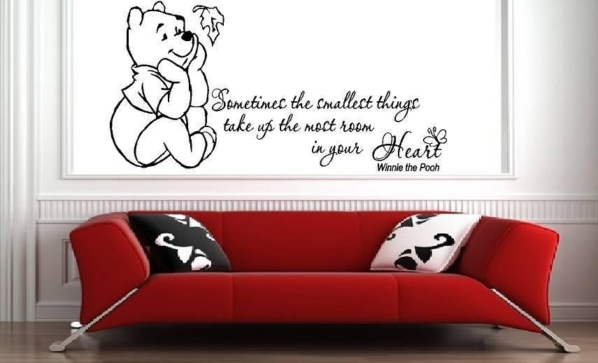 leuke muursticker van winnie the pooh - muursticker babykamer, Deco ideeën