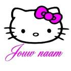Naamsticker hello kitty versie 2