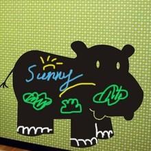 Muursticker Krijtfolie nijlpaard