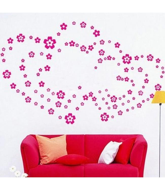 Muursticker bloemen - muurstickers kinderkamer - Muurstickers&zo
