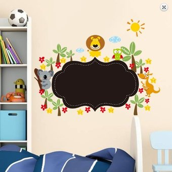 Muursticker krijtbord met dieren versie 2