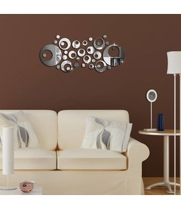 Muursticker mooie spiegel design ringen versie 2