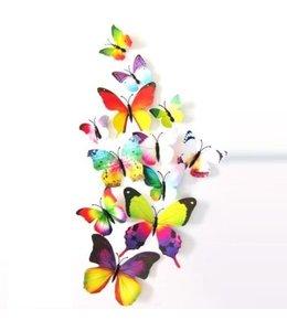 3D vlinders regenboog