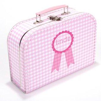 Kinderkoffertje met naam badge meisje