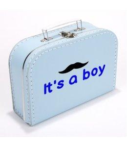 Kinderkoffertje it's a boy moustache