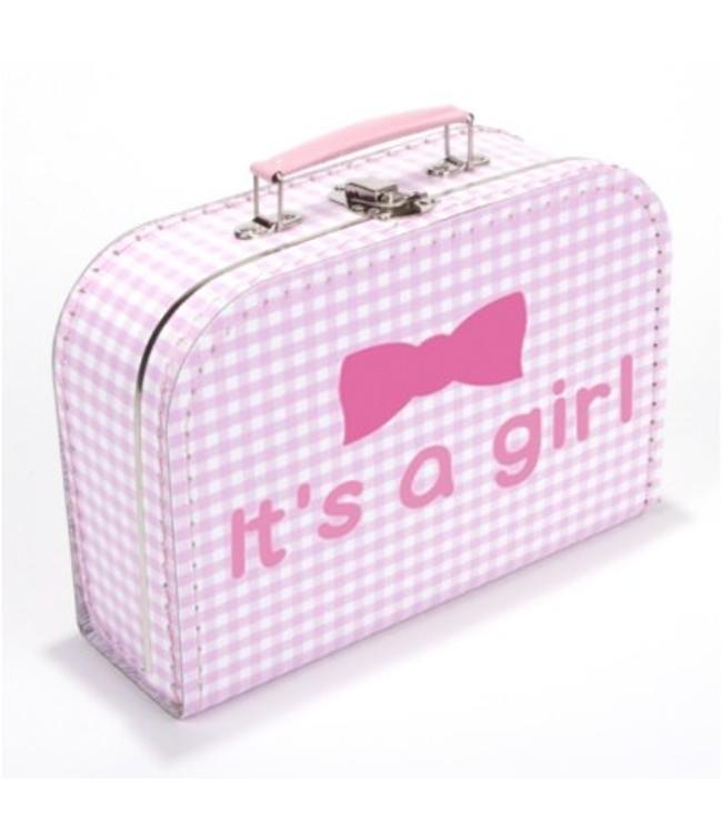 Kinderkoffertje it's a girl strik