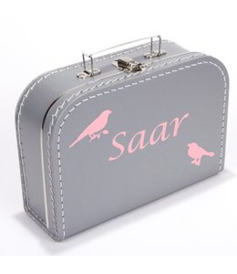 Kinderkoffertje met naam en vogels