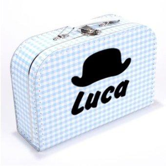 Kinderkoffertje met naam en hoed