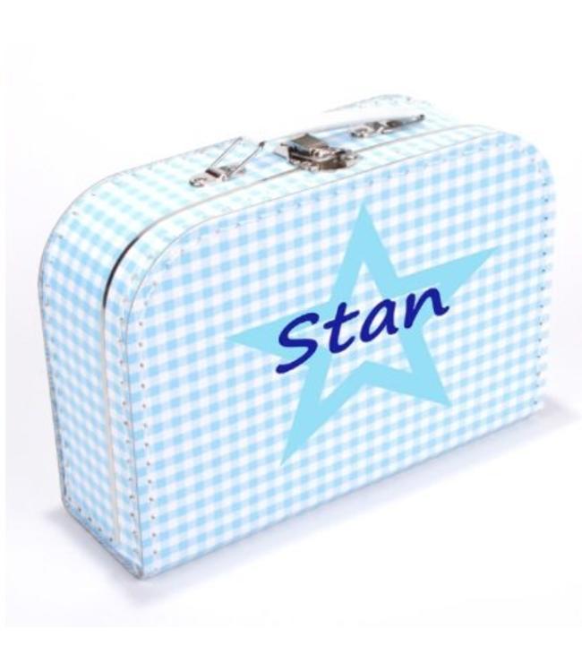 Kinderkoffertje met naam en ster