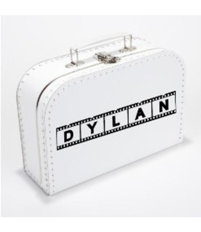 Kinderkoffertje met naam filmstrip