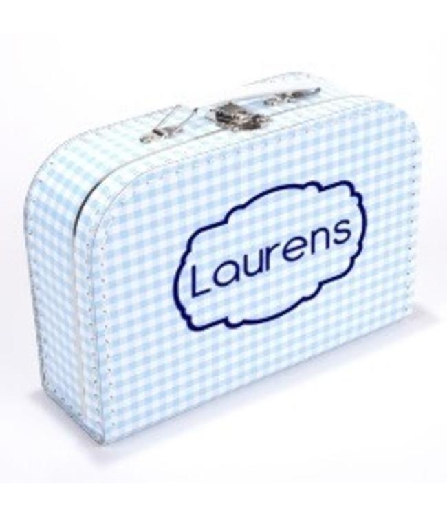 Kinderkoffertje met naam frame