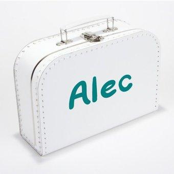 Kinderkoffertje met naam marker