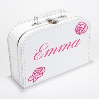 Kinderkoffertje met naam roos