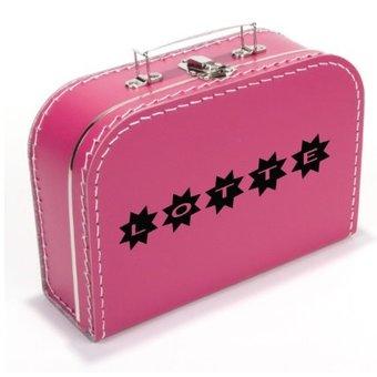 Kinderkoffertje met naam stars