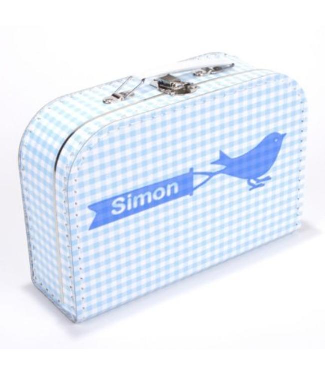 Kinderkoffertje met naam vogel