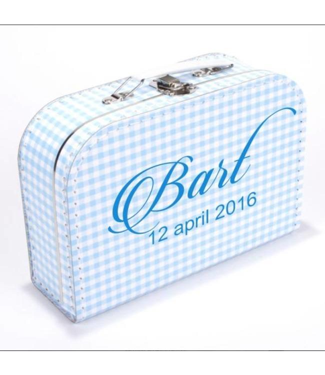Kinderkoffertje met naam en datum