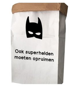Opbergzak blokbodem superhelden